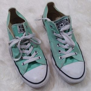 Converse Chuck Taylor low top sneakers mint 9